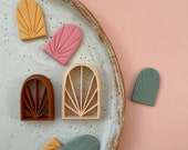 Polymer clay shape cutter embossing cutters stamp earring cutters Polymer clay supplies DIY tools handmade jewellery STAINED GLASS