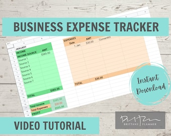 Business Expense Tracker, Income and Expense Tracker, GOOGLE SHEETS