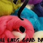 4 oz Mill Ends grab bag, wool, spinning fiber, combed top, roving, felting, blending fiber, one of a kind