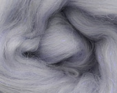Lavender Quartz Merino, 4 oz braid, stellina, sparkle, combed top, roving, spinning or felting fiber, custom blend