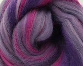 Heavenly, 23 micron merino, 4 oz braid, combed top, roving, spinning fiber, fiber blend, purple
