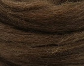 1 lb brown Merino combed top, 24 micron, roving, spinning fiber, felting fiber, fiber, spinning fiber, by the pound, wool, colored wool