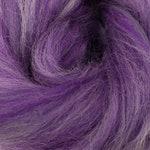 Amethyst, Corriedale, 4 oz braid, combed top, roving, spinning or felting fiber, custom blend