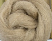 Fawn Alpaca, 4 oz braid, combed top, roving, spinning fiber, baby alpaca