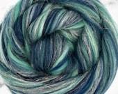 Valhalla, 23 micron merino, 4 oz braid, merino, combed top, roving, spinning fiber, hand spinning fiber, fibre, angelina, merino