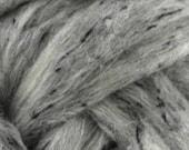 4 oz Grey Tweed Blend, South American wool, spinning fiber, wool, combed top, roving