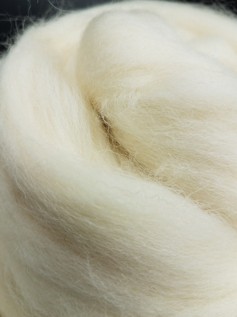 1 lb Romney broken combed top roving spinning fiber image 0