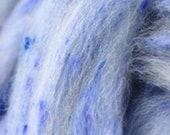 4 oz blue tweed blend, South American wool, spinning fiber, wool, combed top, roving