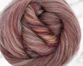 Marakesh, Shetland/Nylon, 4 oz braid, combed top, roving, spinning or felting fiber, custom blend