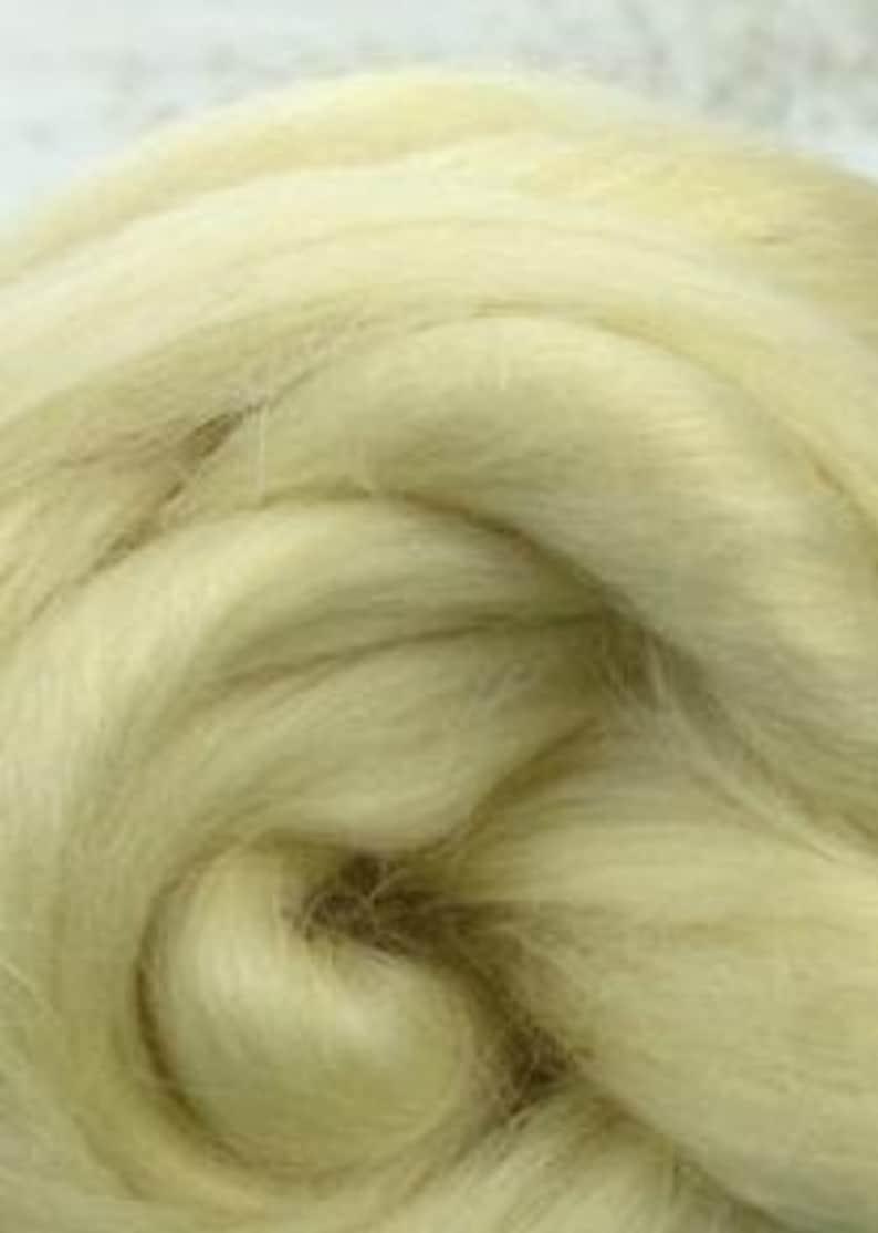 1 lb Wensleydale combed top roving spinning fiber felting image 0
