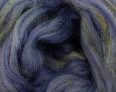 Charm Merino/Bamboo tweed combed top, 4 ozs, 23 micron, roving, spinning fiber, felting fiber, luxury fiber, spinning fiber, braid, tweed