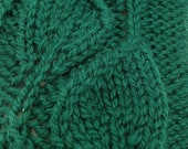 Green leaves winter mitts, hand knit, wool  yarn, fingerless gloves, hand warmers, wrist warmers