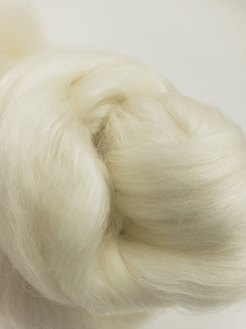 1 lb Polworth/Mulberry silk combed top 80/20 blend roving image 0