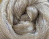 Camel/Silk, 4 oz braid, combed top, roving, spinning fiber, 50/50 blend, baby camel, tussah silk