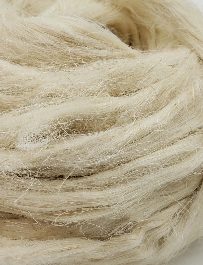 1 lb hemp combed top roving spinning fiber linen fiber image 0