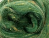 Riddle Merino/Bamboo tweed combed top, 4 ozs, 23 micron, roving, spinning fiber, felting fiber, luxury fiber, spinning fiber, braid