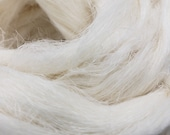 1 lb Bleached Flax spinning fiber, linen, combed top