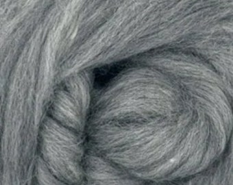 Smoke, BFL, 4 oz braid, Blue Faces Leister, combed top, roving, spinning fiber