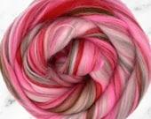 Sakura Merino, 4 oz braid, combed top, roving, spinning or felting fiber, custom blend