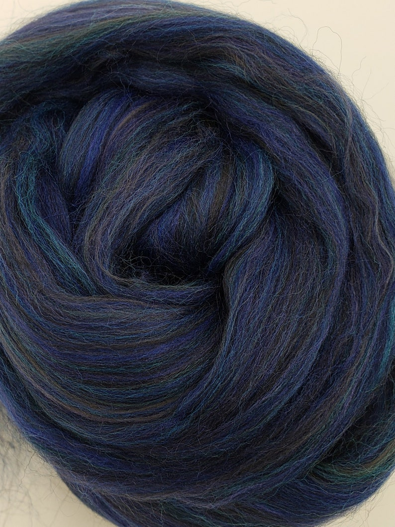 Ravens Feather merino/bamboo blend 23 micron 4 oz braid image 0