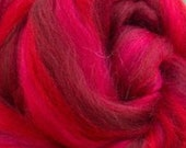 Passion, 23 micron merino, 4 oz braid, combed top, roving, spinning fiber, custom blend