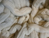 4 oz Green Cotton, Easy to Spin, combed top, roving, spinning fiber, natural color plant fiber, vegan, 4 oz braid, earth friendly