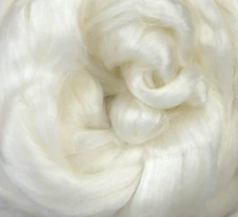 4 ozs Seacell Fiber Cellulose combed top roving spinning image 0