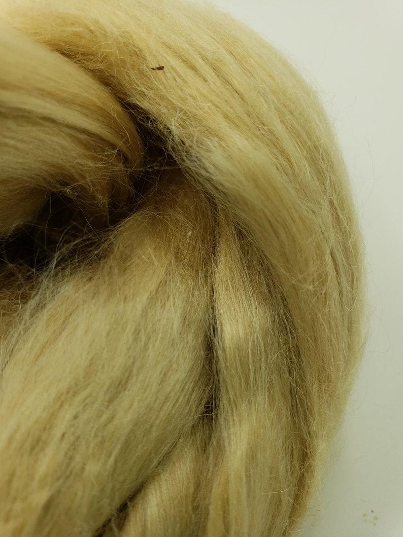 1 oz Tussah Silk roving spinning fiber luxury blending fiber