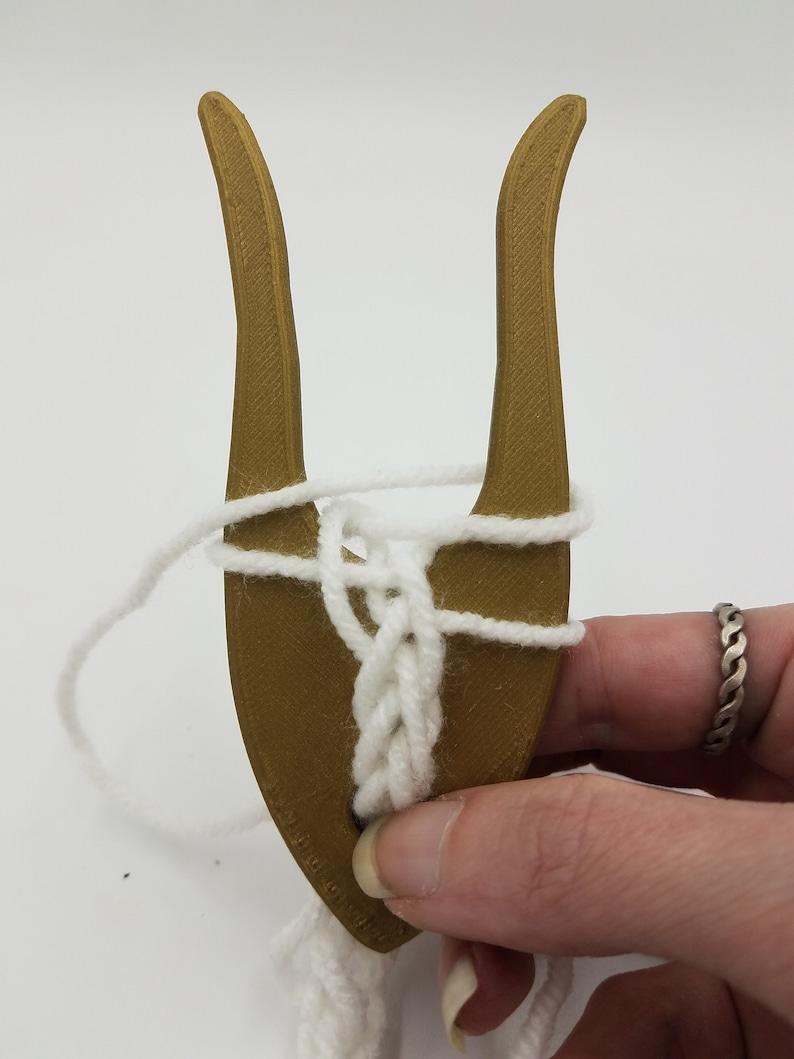 Lucet knitting fork viking medieval cord braiding image 0