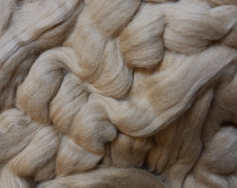 4 oz Brown Pima Cotton, Easy to Spin, combed top, roving, spinning fiber, natural color plant fiber, vegan, 4 oz braid, earth friendly