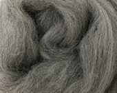 1 lb Grey Corriedale combed top, roving, wool by the pound, spinning fiber