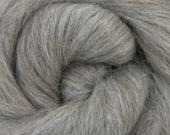 Grey Alpaca, 4 oz braid, combed top, roving, spinning fiber, baby alpaca