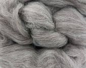 1 lb Grey Shetland combed top, roving, spinning or felting fiber, wool by the pound