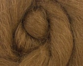 Brown Alpaca, 4 oz braid, combed top, roving, spinning fiber, baby alpaca