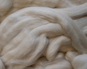 4 oz White Pima Cotton, Easy to Spin, combed top, roving, spinning fiber, natural color plant fiber, vegan, 4 oz braid, earth friendly