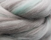 Happily Ever After, 23 micron merino, 4 oz braid, combed top, roving, spinning fiber, angelina sparkle