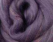 Legacy Merino/Bamboo tweed combed top, 4 ozs, 23 micron, roving, spinning fiber, felting fiber, luxury fiber, spinning fiber, braid, tweed