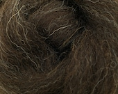1 lb Zwartbles combed top, roving, spinning fiber, felting fiber, black wool, natural color, rare breed, by the pound