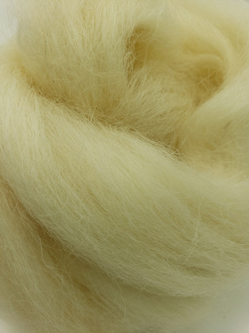 1 lb Lincoln combed top roving spinning fiber felting image 0