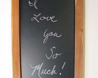 "Rustic Chalkboard 14"" x 24"" w / ledge, Reclaimed Wood, Kitchen Chalkboard, Kitchen Decor, Rustic Wedding Chalkboard, Kitchen Menu Chalkboard"