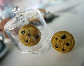 Butter Cookies with chocolate chips Stud Earrings _ Polymer Clay _ Food Jewelry _ Foodie Gift _ Cookie Collection
