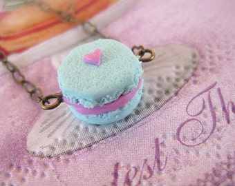 Mint Macaroon Bracelet _ 1/12 Dollhouse Scale Miniature Food _ Polymer Clay _ Food Jewelry _ Foodie Gift _ Macaroon Collection