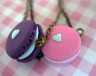 Macaroon Bracelet _ 1/12 Dollhouse Scale Miniature Food _ Polymer Clay _ Food Jewelry _ Foodie Gift _ Macaroon Collection