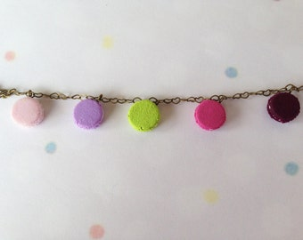 Colorful Macaroon Series Bracelet _ Miniature Food _ Polymer Clay _ Food Jewelry _ Foodie Gift _ Macaroon Collection