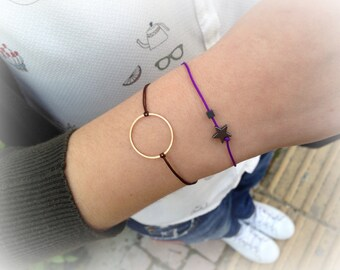 Circle Bracelet in Gold Color _ Sweet but not too Sweet Collection _ Spring Time Jewelry!