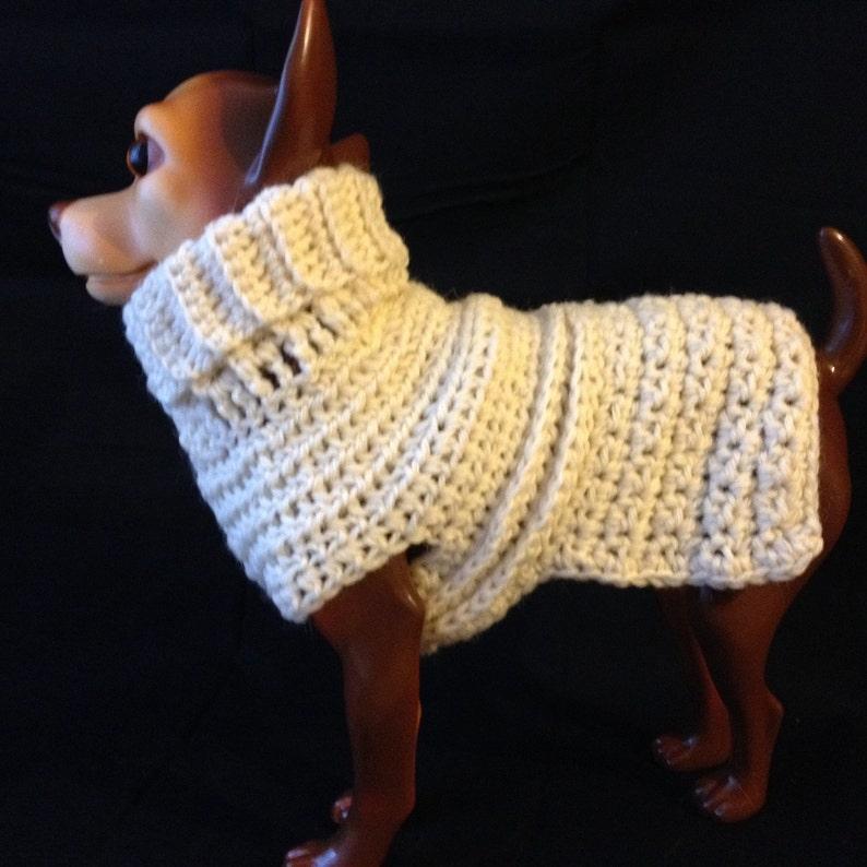 Irish Fisherman's Wool Dog Sweater Dog Sweater Dog image 0