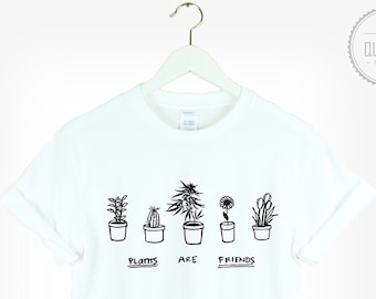 034cb43d289b4 PLANTS ARE FRIENDS weed t-shirt shirt tee unisex womens mens cute kale  flowers vegan cactus tumblr pinterest instagram 100%cotton *brand new