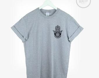 e876651a HAMSA POCKET t-shirt shirt tee top unisex womens mens boho yoga festival  kitsch urban hand tumblr pinterest instagram blogger gift*brand new