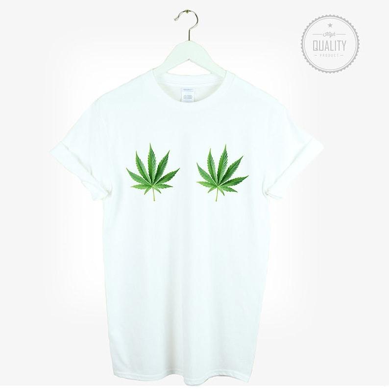 350d9f48 WEED BOOBS t-shirt shirt tee unisex mens women tumblr | Etsy