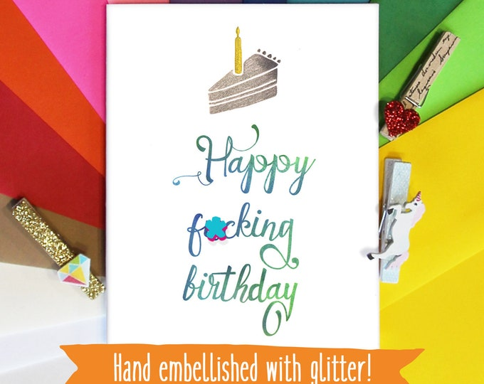 Mature Funny Birthday Card, Humorous Card, Inappropriate Cards, Card for Her, Card for Him, Card for Best friend, Gift for Best friend